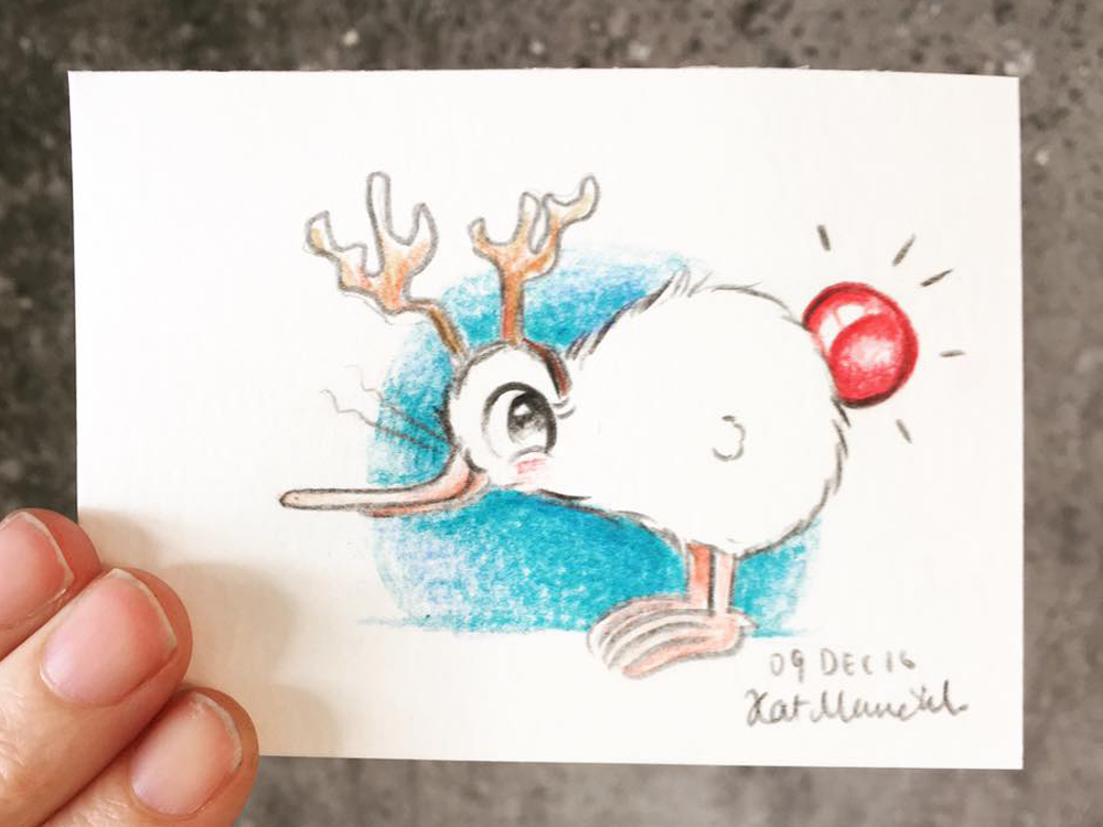 2016 Daily Tiny Drawing Challenge Kat Merewether Illustration Art Kuwi