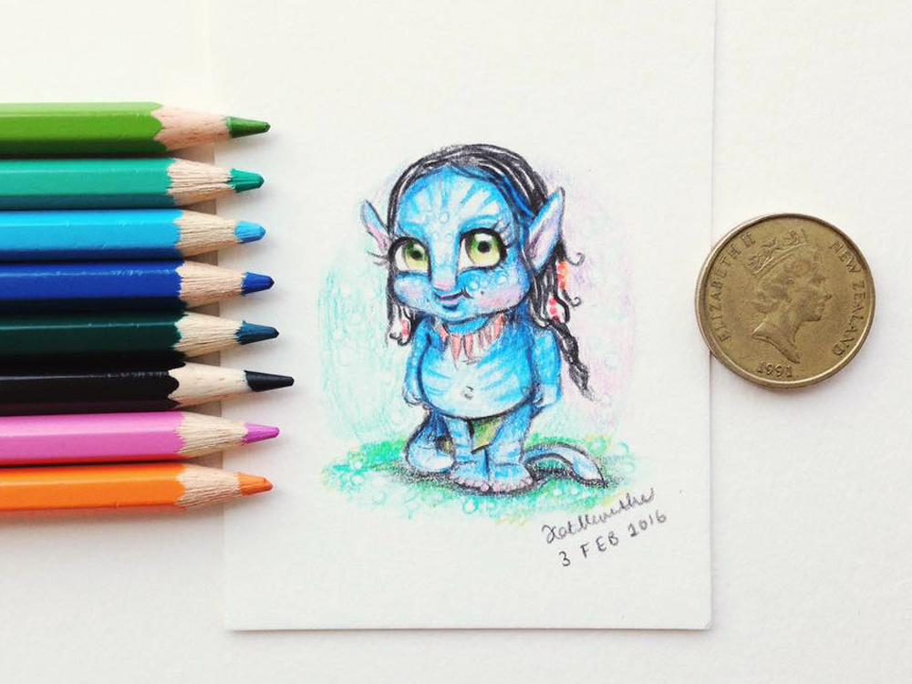 2016 Daily Tiny Drawing Challenge Kat Merewether Illustration Art