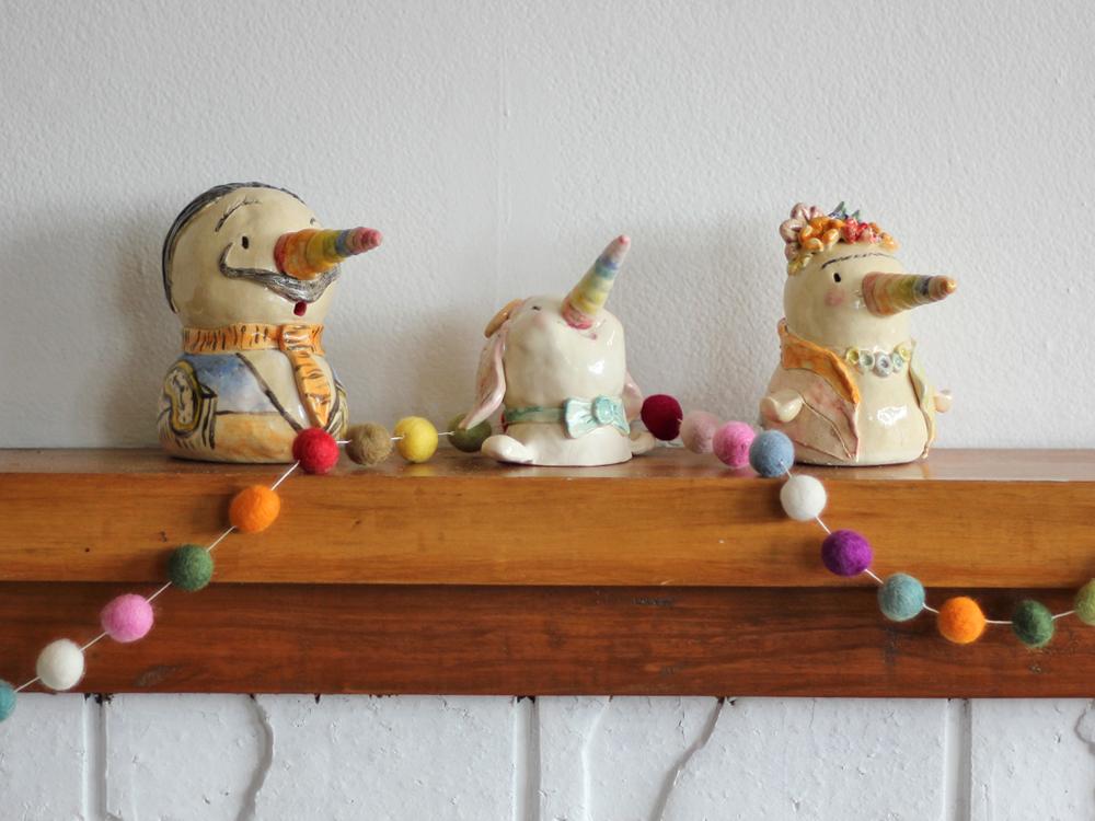 2017 Kiwicorn Ceramics Kat Merewether Illustration Art