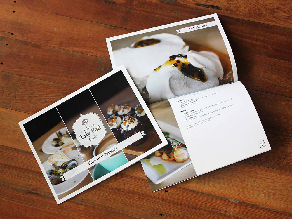 The Lily Pad Cafe Function Package Booklet Design Publication