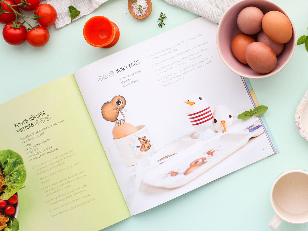 Kuwi the Kiwi Kitchen Kids' Cookbook Design Publication