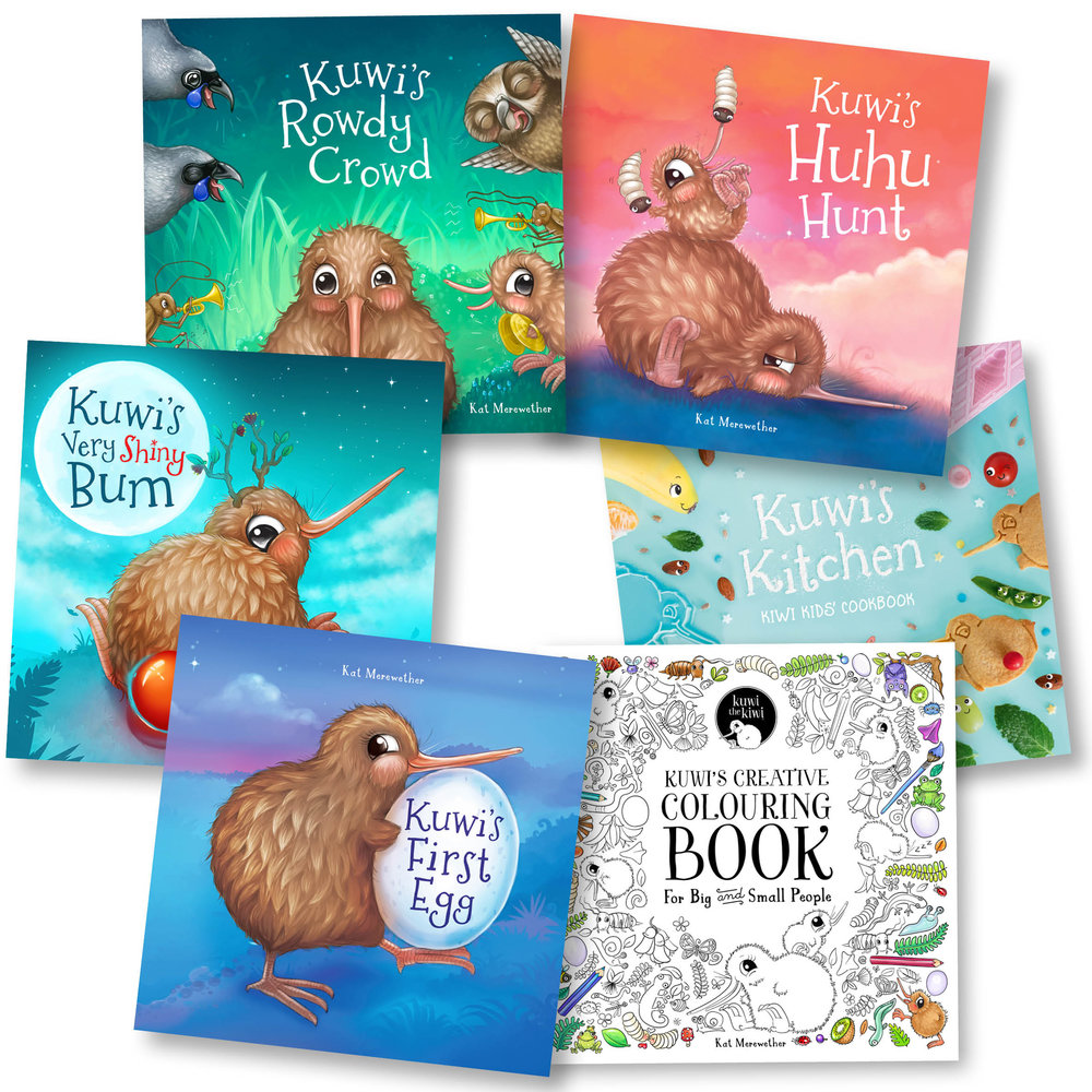 Kuwi the Kiwi Books - Written and illustrated by Kat Merewether
