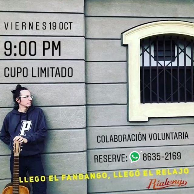 Mañana concierto en #monkeyhouseconcerts, un #rialengoencasa abierto al público! La entrada es voluntaria.