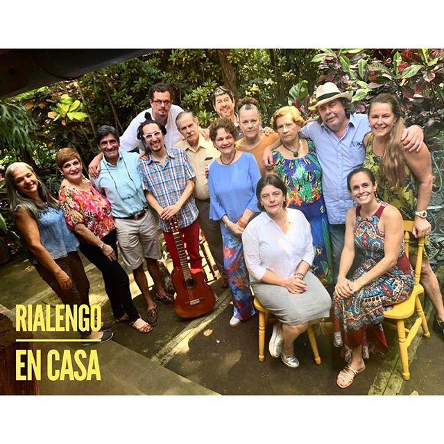 Ayer #rialengoencasa fue parte de la celebración para Don Sergio Erick Ardón. Con la familia Ardón Morera Quesada! Seguimos #palante
