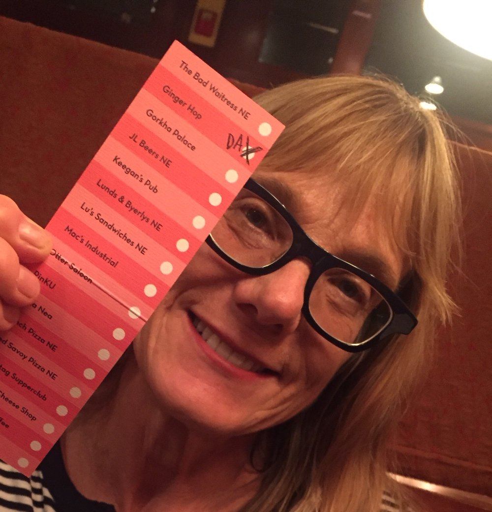 Northeast resident Maggie Stopera putting her punchcard to use