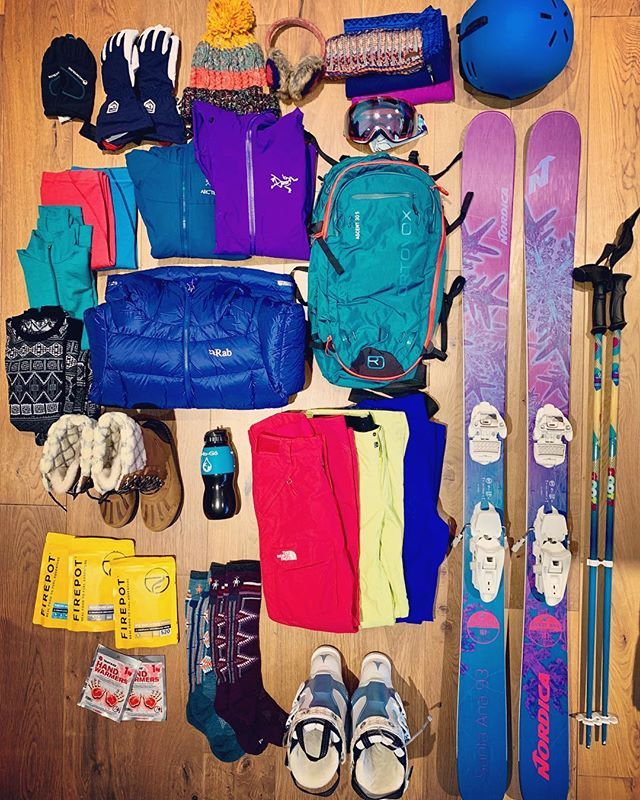 Last day in London of 2018. One word. Packing 🎿 #themountainsarecalling #skiseason #skiing . . . . Thanks to @rab.equipment @firepotfood @watertogo for my bits and pieces to take out! And @ortovox for the awesome discount! . . . #packing #packinglist #skis #skiboots #skier #backcountry #winterseason #winter2019 #wintersdventures #liveskirepeat #canada #canadacalling #ferniestoke #britishcolumbia #mountainadventures #mountaingirl #rabequipment #wearerab #nordicaskis #fuelledbyfirepot #watertogo #oakleygoggles #oakleyflightdeck #ortovox #newyear #friday