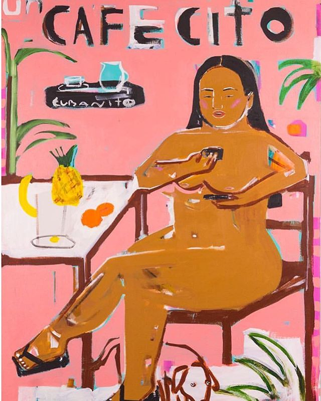 Sippin on Cafecito y Self Care este Sábado •  Wishing all our ladies and allies positive & productive vibes during this summer rain in NYC. 🎨 Art by the incredible @monicakimgarza