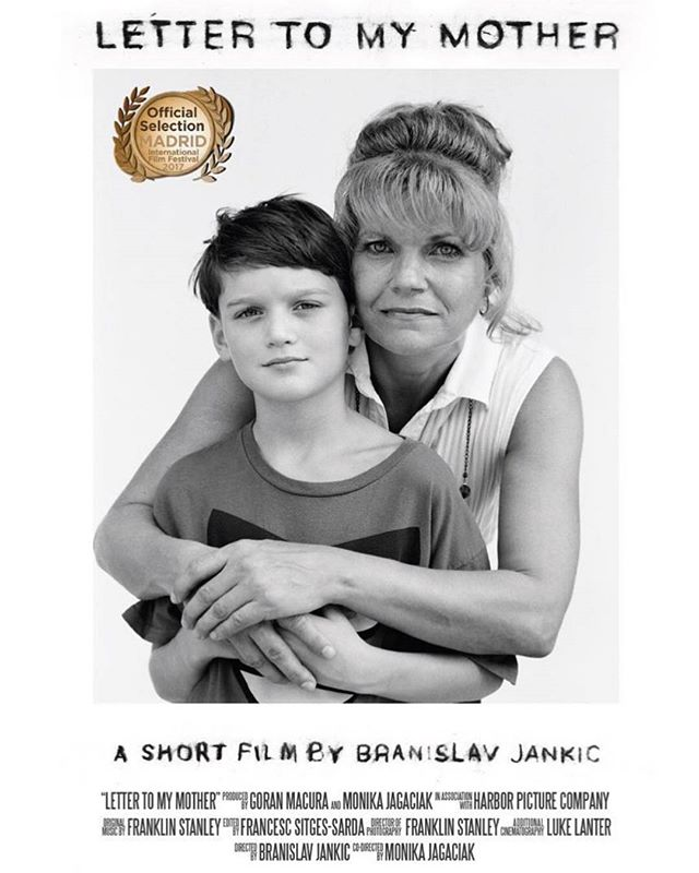 Nominated at the Madrid International Film Festival for Best Short Documentary. LETTER TO MY MOTHER film directed by @slavjankic and @jacmonika . What an honor to be a part of this with you both.  Best of luck this weekend team! .  @goranmacura @franklin_stanley #IFF #ltmm #lettertomymother #Madrid @filmfestint