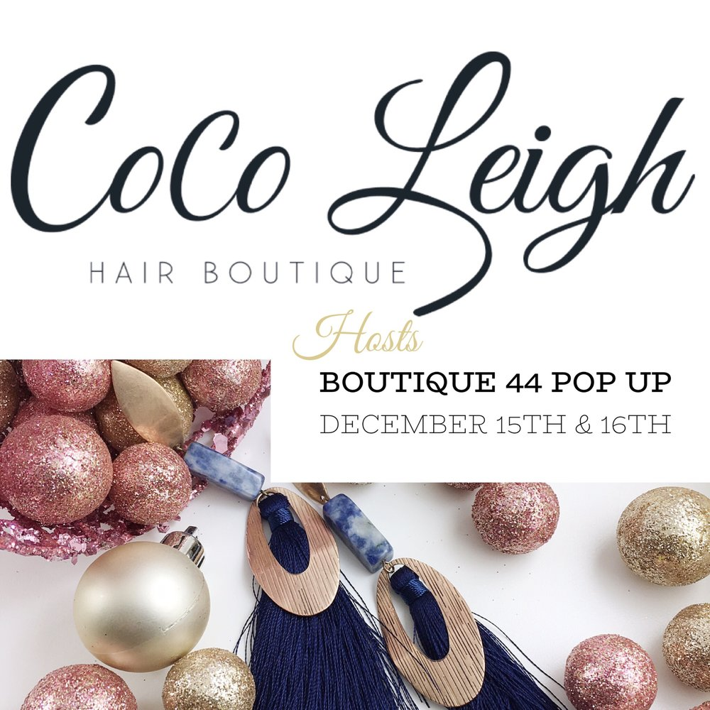 Join us in Bel Air, MD - We are so excited to be spending 2 full days with our friends at Coco Leigh Hair Boutique! We'll have clothing, gift items, holiday ornaments, jewelry, and some scarves!  No need for a salon appointment to stop in to shop; however if you've never had them do your hair, you totally should.  My locks are gorgeous thanks to them.  Read more about our events at the link above!