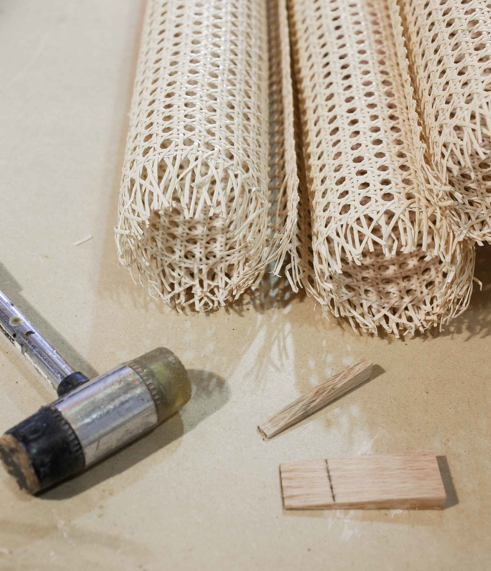 - - Sheet Cane Replacement (also known as machine/pressed cane)- Paper and Natural Rush Replacement- Most Hand Caning (subject to inspection)- Some Wicker Repair (subject to inspection)- Danish WeavingCLICK HERE FOR AN ESTIMATE