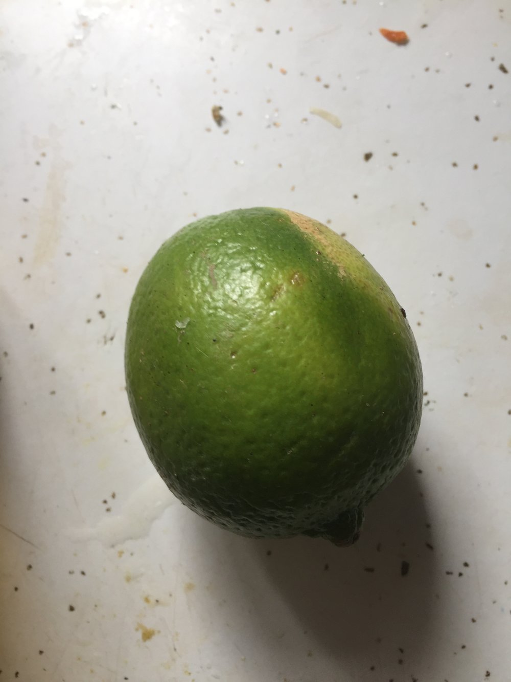 Juice the limes by cutting them open and with your hand crushing their insides to produce juice. Juice should be about a cup of lime juice. Add the juice to a pitcher.
