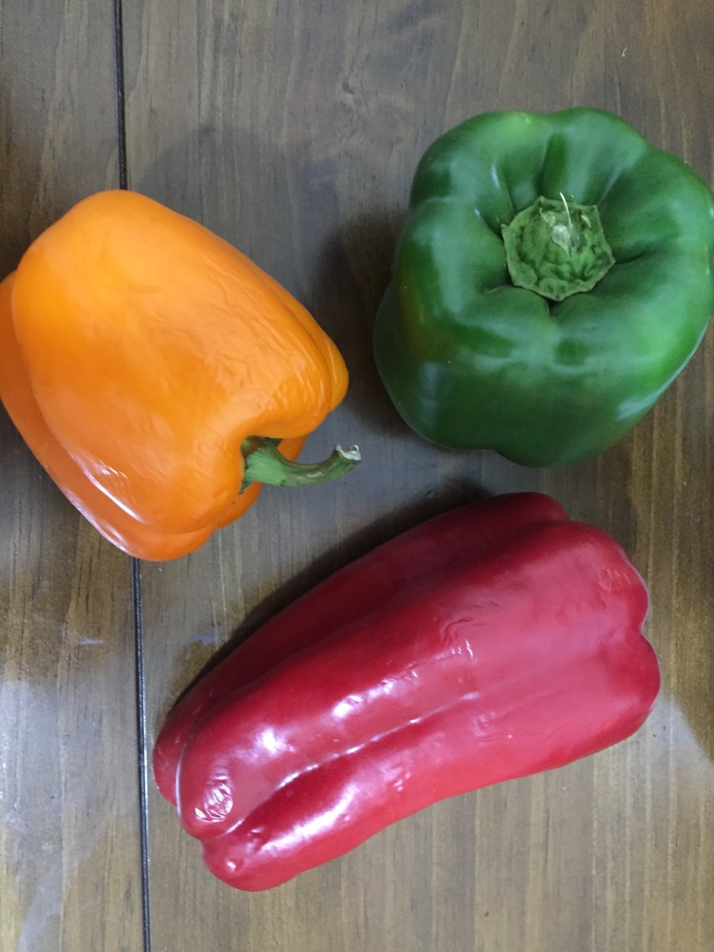 Take the Peppers, core them and remove the seeds. Cut them lengthwise and put in a bowl.