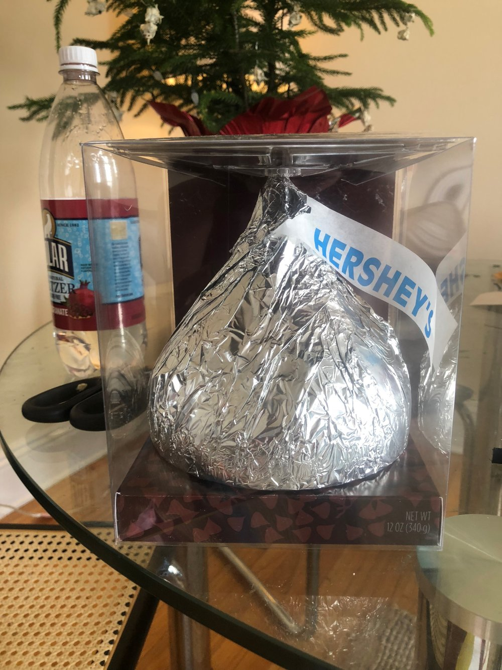 Look at your massive Hershey Kiss and admire how awesome it is.