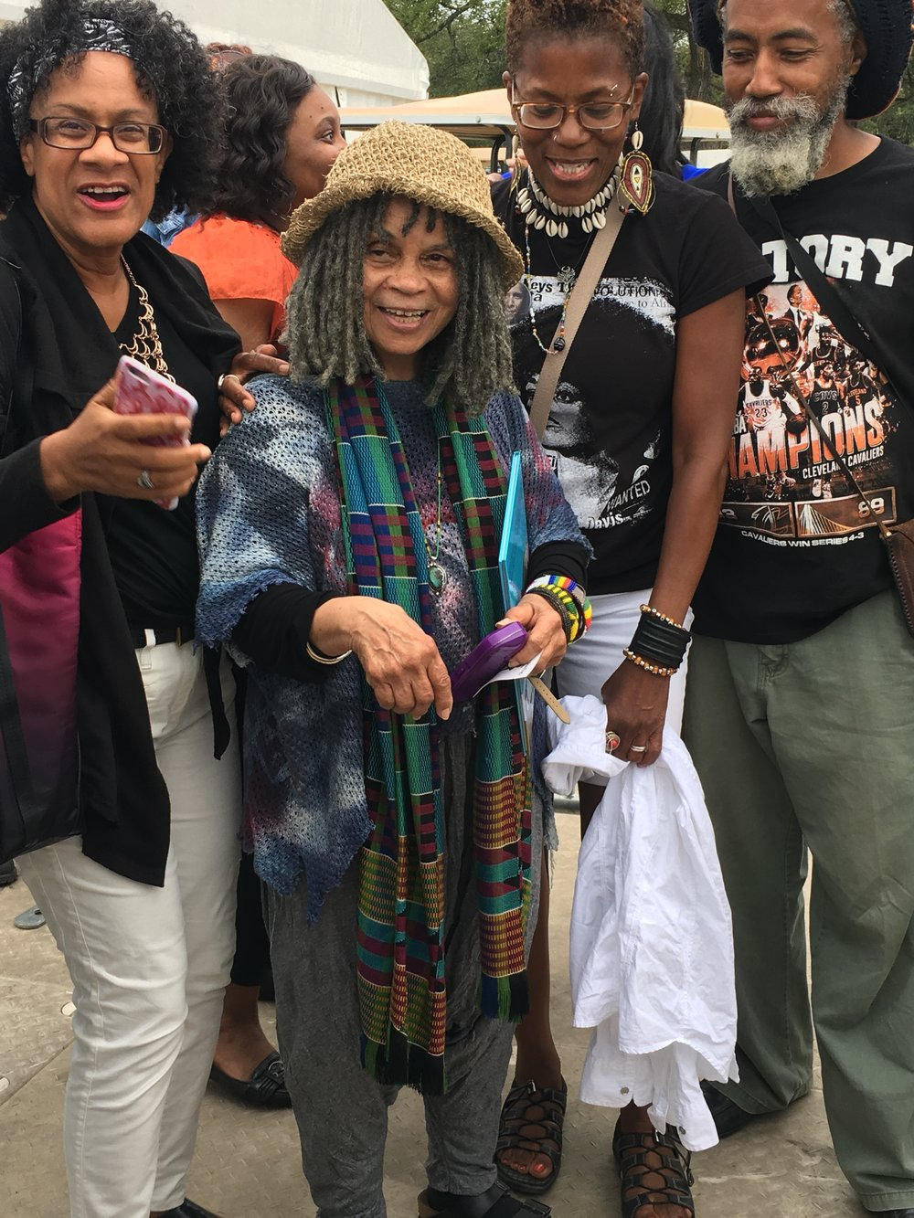 The Poet Sonia Sanchez in the middle