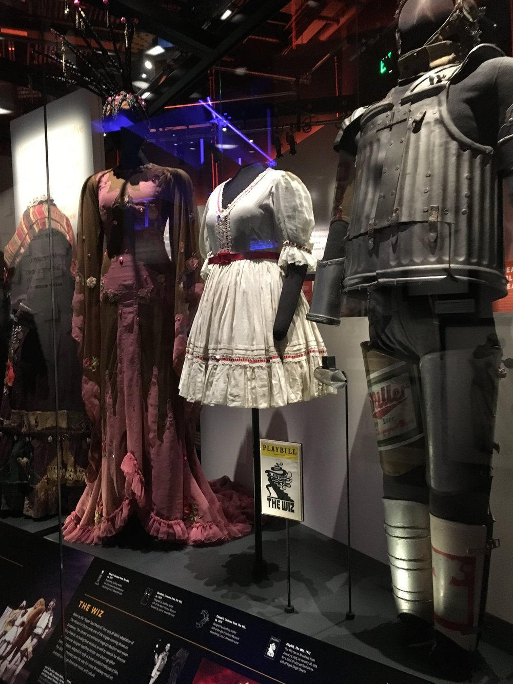 Broadway section of the top floor. Displays the costumes from the broadway play The Wiz