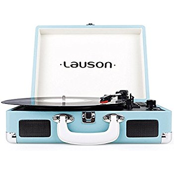 3-Speed Suitcase Turntable with Speakers