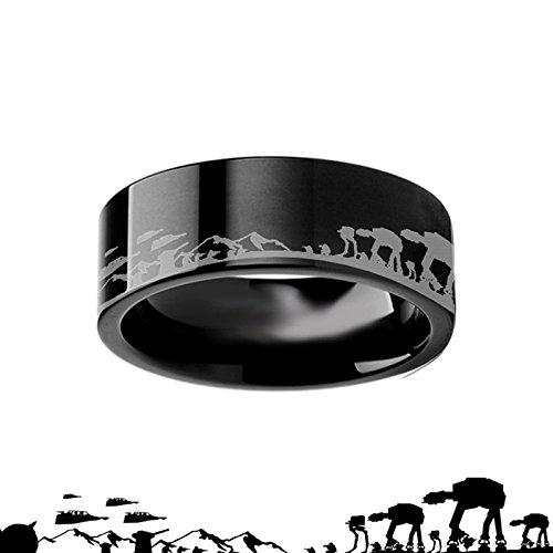 Hoth Black Tungsten Ring