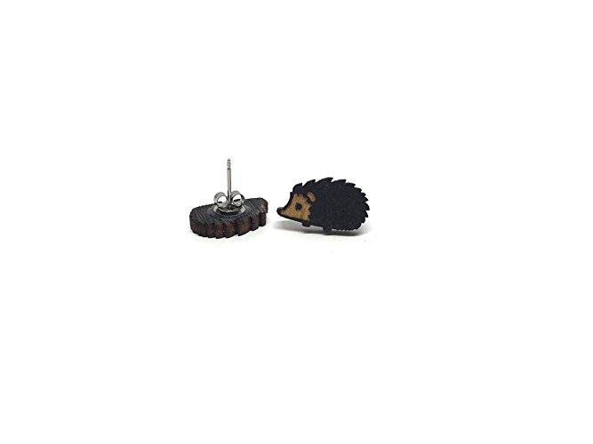 Hedgehog Earrings- Black