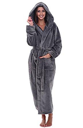 Womens Hooded Fleece Robe