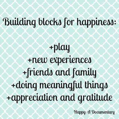 Building blocks of happiness