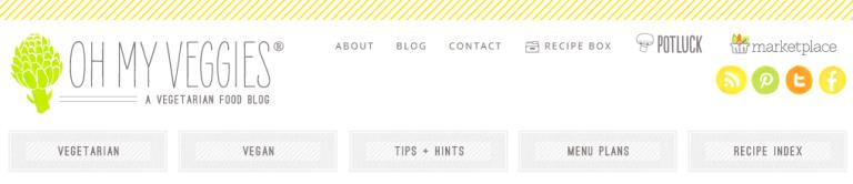 Oh My Veggies Blog