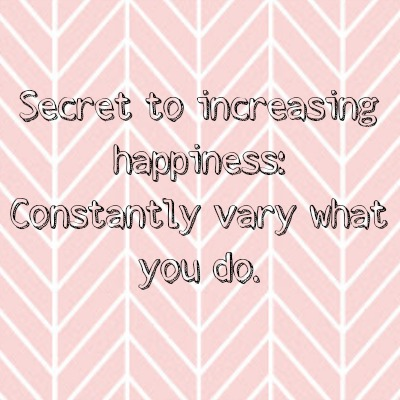 secret to happiness