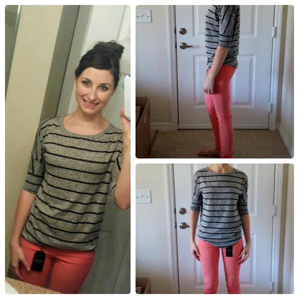 Stitch Fix Shirt and Pink Skinny Pants