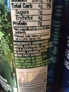 Zevia Ingredients