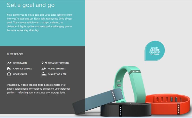 Fitbit Flex Goals