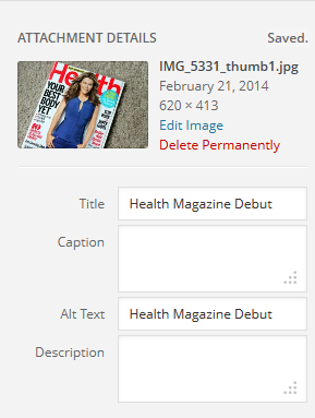 health magazine alt text