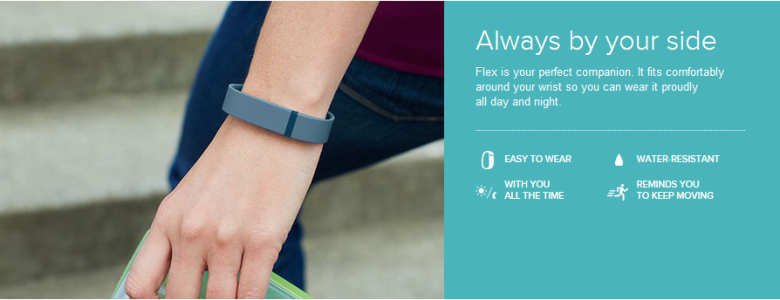 Fitbit Flex by your side