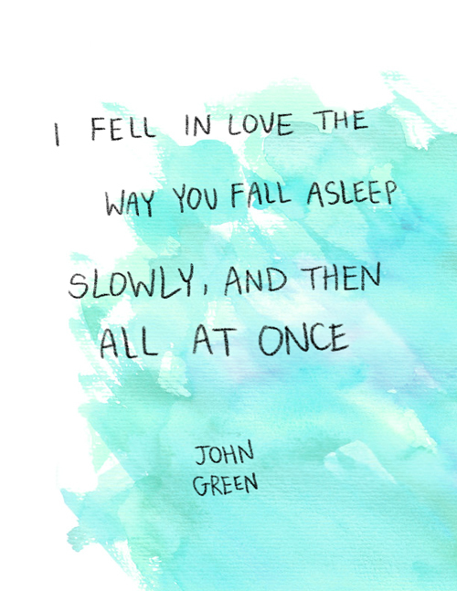 Fell In Love Fault in Our Stars Quote