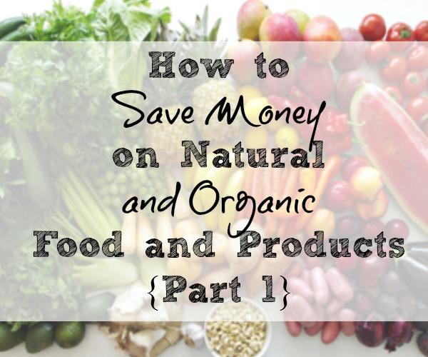 save money on organic