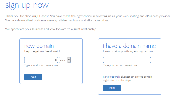 choose a domain name