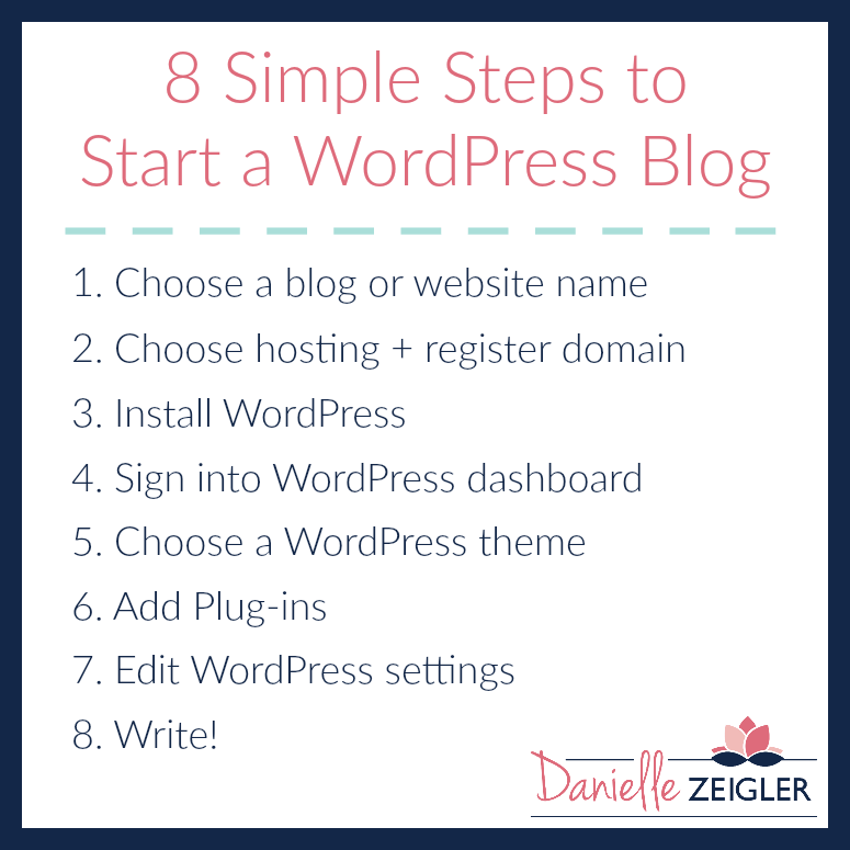 8 Simple Steps to Start a WordPress Blog