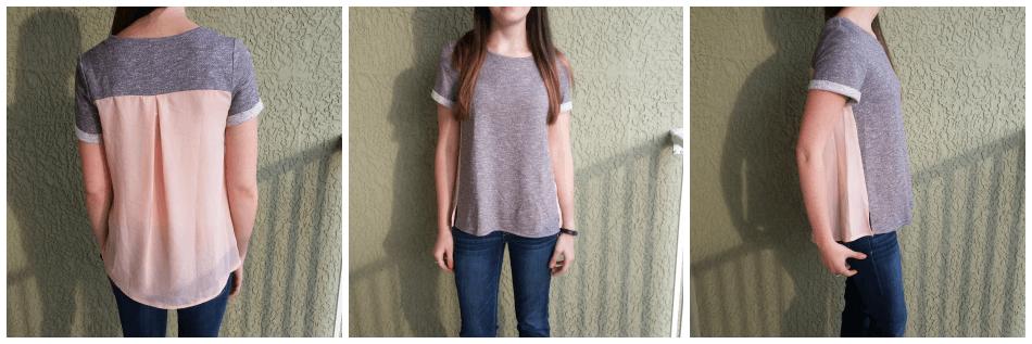 woven pink shirt from Stitch Fix