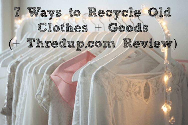 ways to recycle old clothes