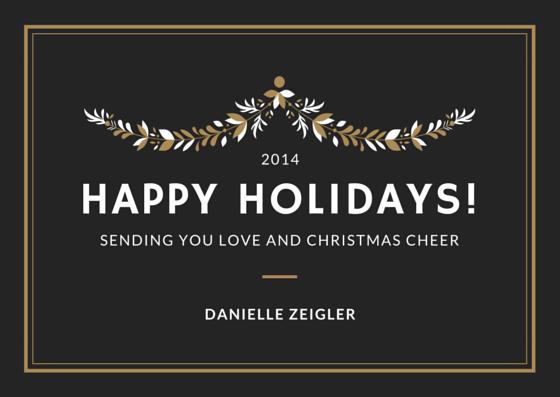 Danielle Zeigler Holiday Card