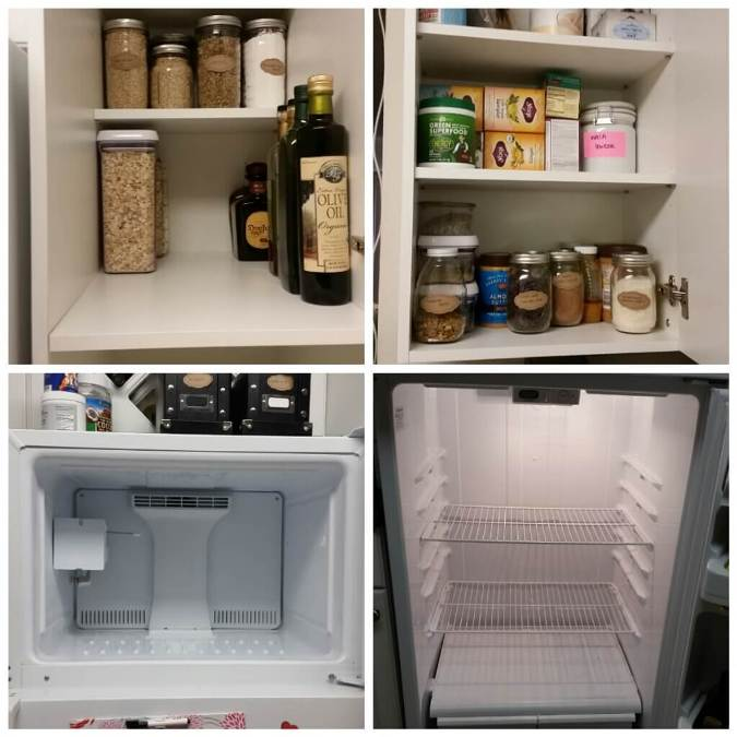 fridge and pantry cleanout