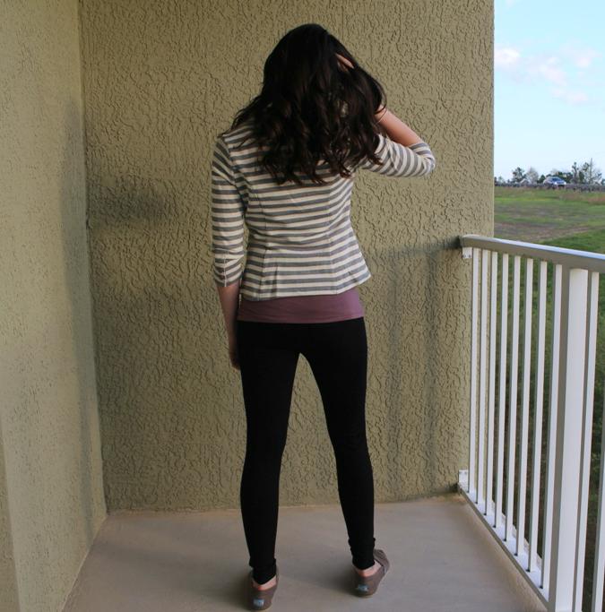 back of striped blazer from stitch fix