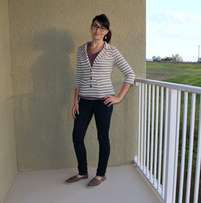 striped casual blazer from stitch fix