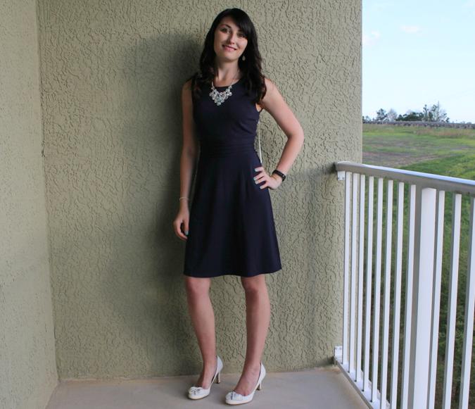 blue dress from stitch fix