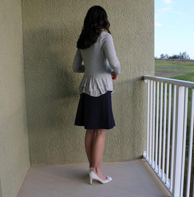 gray ruffle sweater from stitch fix