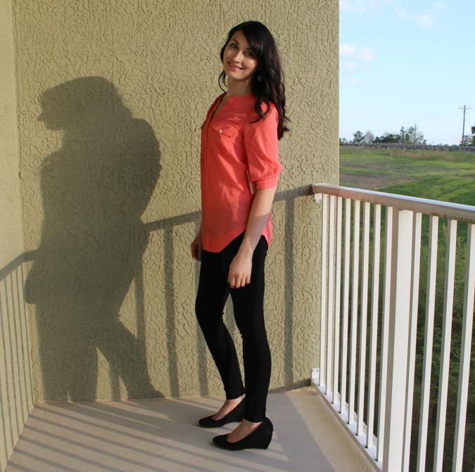 orange blouse from stitch fix
