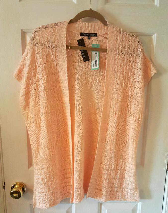 peach sweater hanger