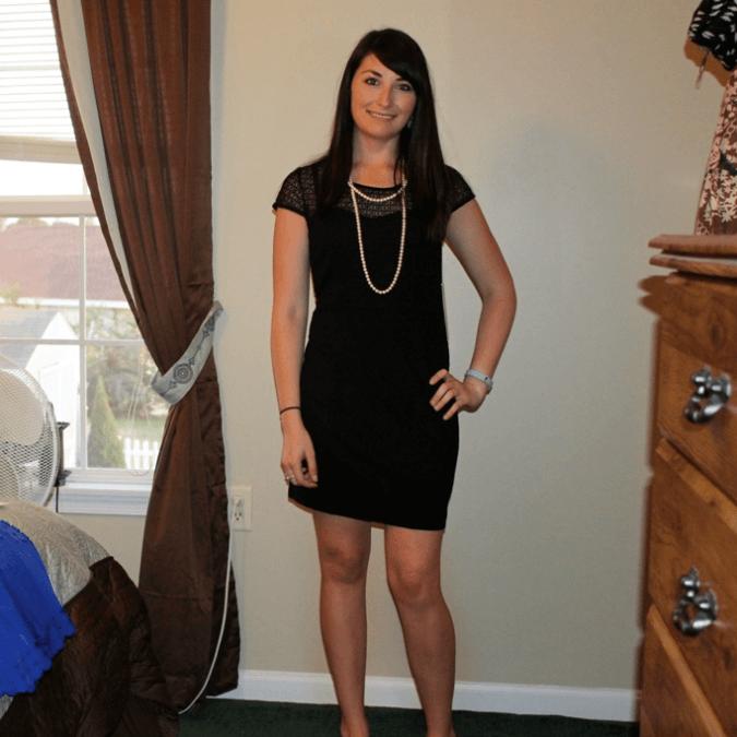 Kensie Quinna Lace Sheath Dress in Black