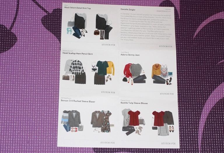 Stitch Fix Stylist Note Cards