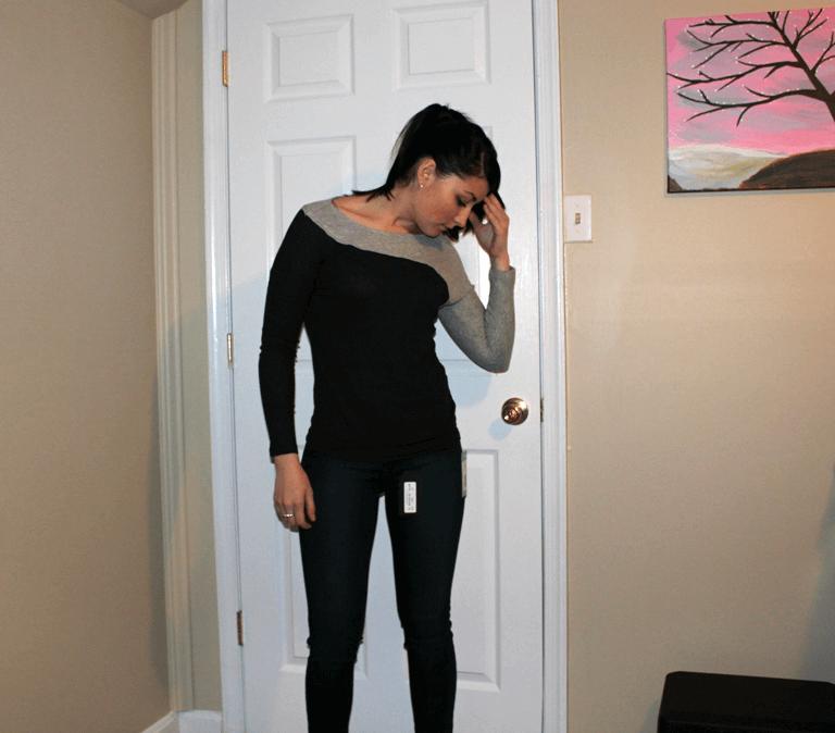 Stitch Fix Mauli Stitch Detail Knit Top Adorra Skinny Jean