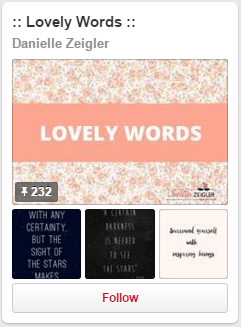 Lovely Words Pinterest Board
