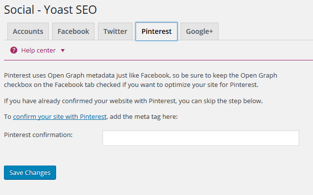 How to Verify Pinterest for Business with Yoast SEO Plugin